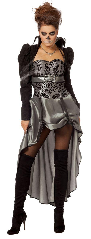 Halloween, Karneval, Gothic-Party? Unser Victorian Lady Damenkostüm ist für alles geeignet. Mit sexy Minirock in glänzendem Silber und Bolerojacke! HIER!