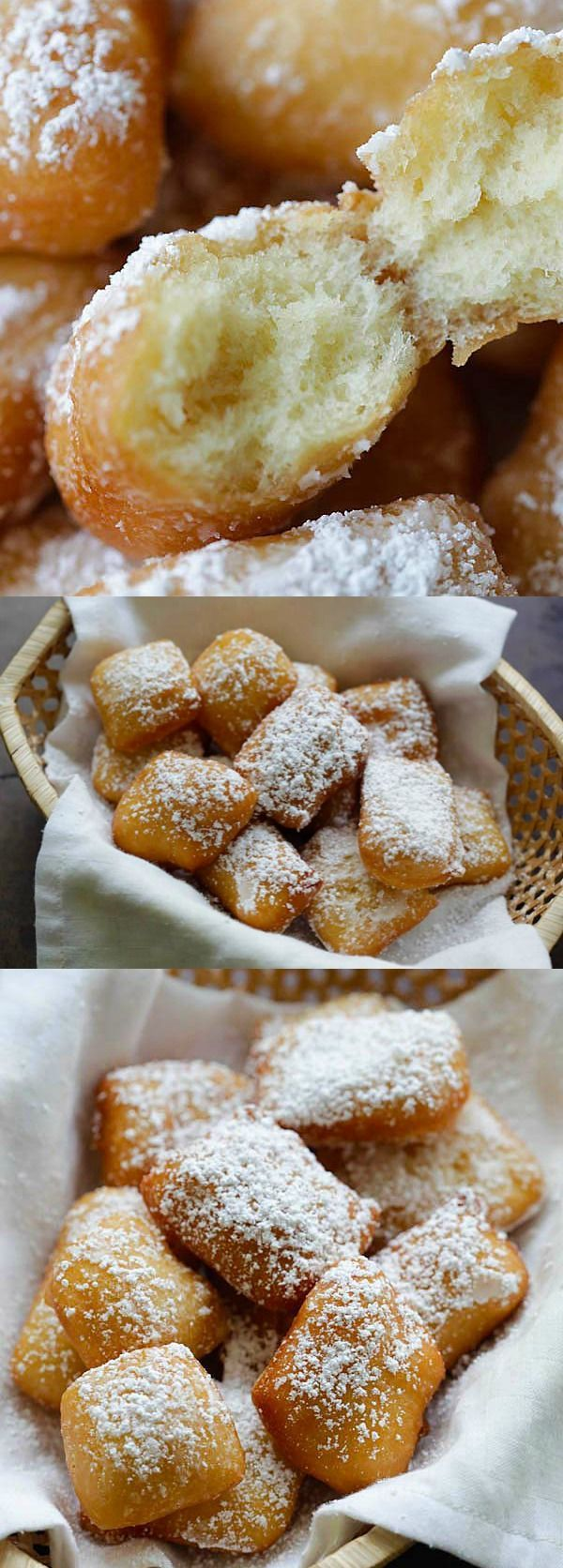 Soft, pillowy and the best New Orleans beignets recipe ever. This recipe is fail-proof, anyone can make it | http://rasamalaysia.com