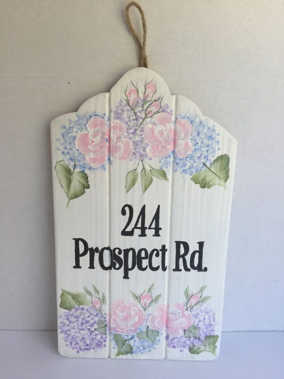 Hand painted house sign with address personalized custom