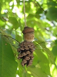 pine cone fairies.  They would be a cute addition to the Enchanted Forest at Olave!