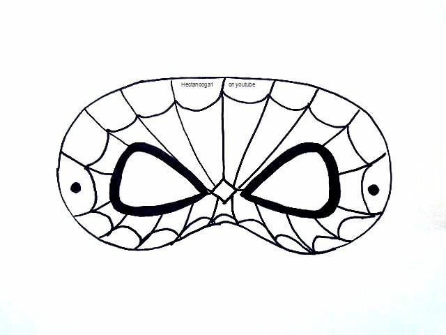 It is an image of Delicate Spiderman Mask Printable