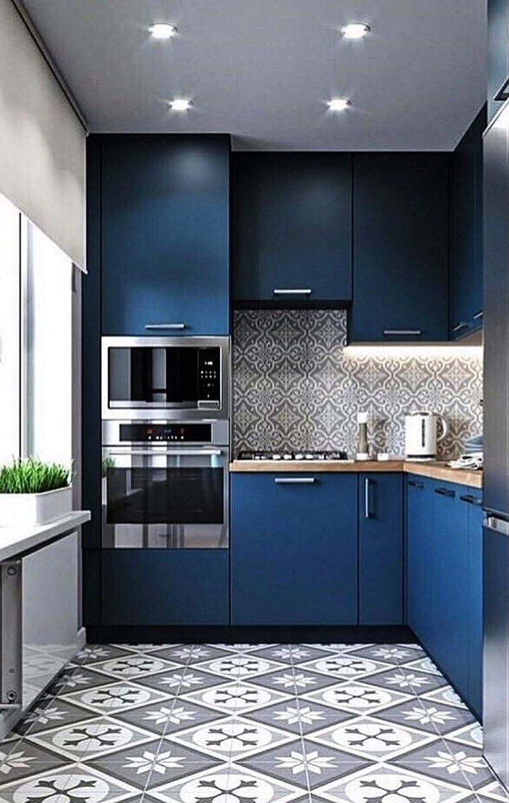 9 Different small kitchen design ideas   White, colored and ...