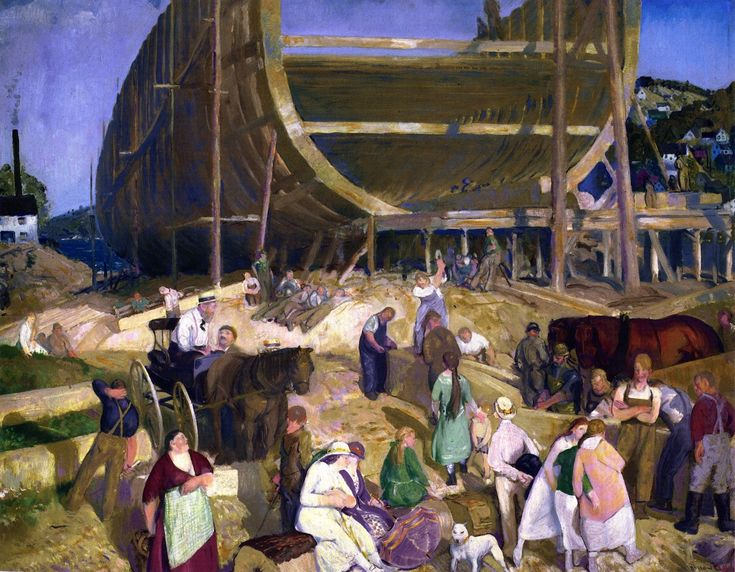 George Bellows. Shipyard. (Met, NY Dec 2012)