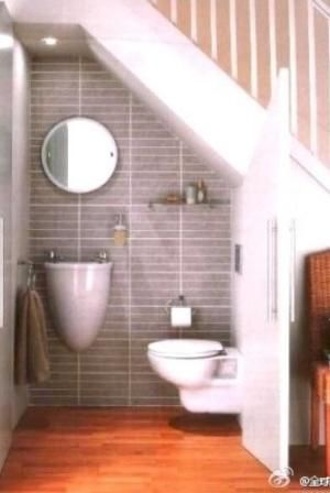 Idea for under the stairs bathroom by evangelina