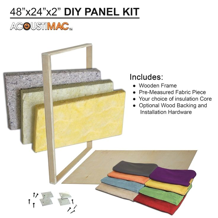 Acoustimac Do It Yourself Acoustic Panel Kit Includes Core Frame And Fabric Backing And Mounting Panneaux Acoustiques Pose Parquet Flottant Parquet Flottant