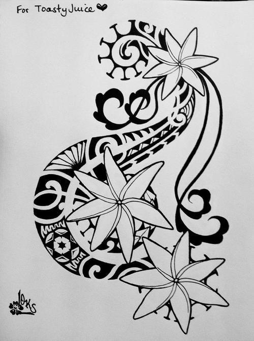 tattoos by butler hilo hawaii | tiare flower tahitian hawaiian samoan tattoo tatt