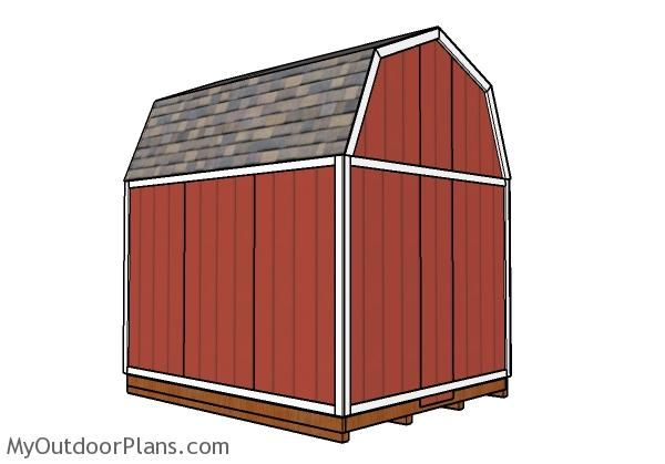 10x12 Gambrel Shed Roof Plans Myoutdoorplans Free Woodworking Plans And Projects Diy Shed Wooden Playhouse Pergola Bbq In 2020 Shed Shed Roof Gambrel
