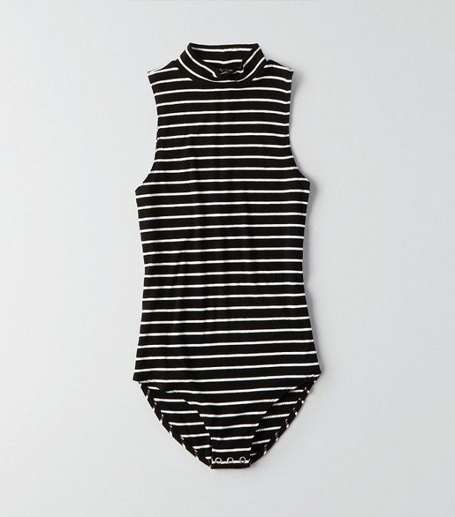 American Eagle Outfitters First Essentials Mock Neck Bodysuit