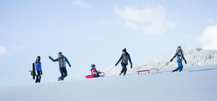 Beim Rodeln zählt allein der Spaß und das Vergnügen bei der rasanten Abfahrt ins Tal. Entdecke die Naturrodelbahnen der Olympiaregion Seefeld. www.seefeld.com