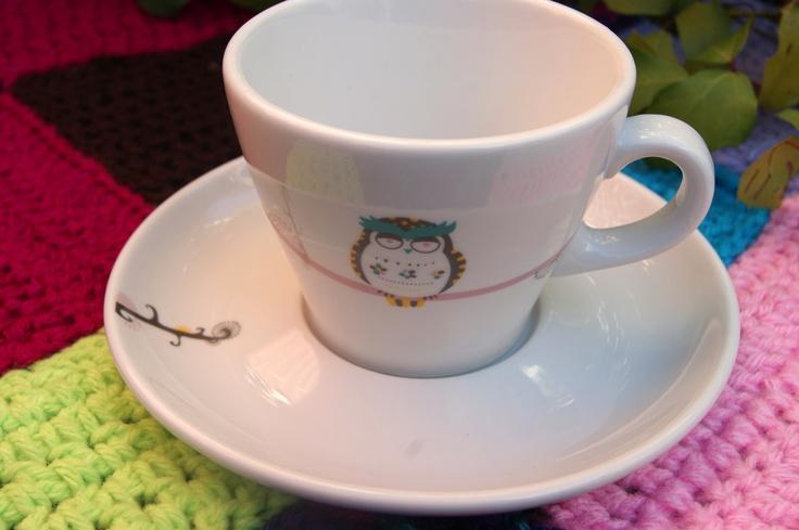 Taza de Té de Porcelana Verbano con diseño de Las Nereidas.