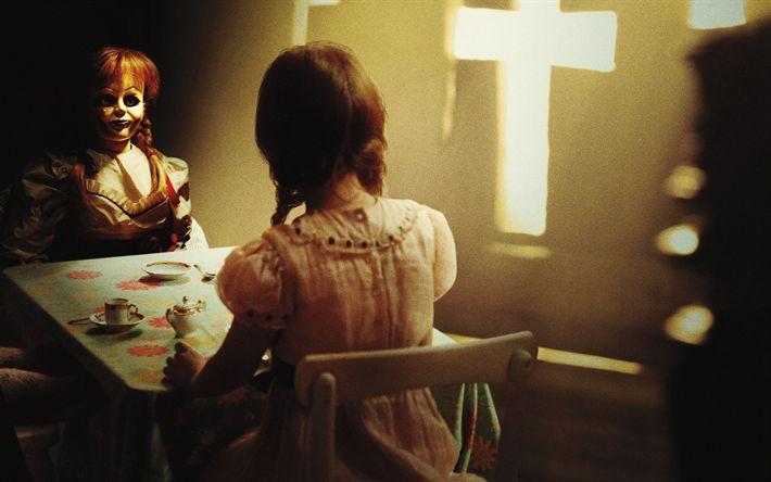 Descargar fondos de pantalla Annabelle 2, la Creación De 2017, novela de Suspense de la película, Promo, nuevas películas