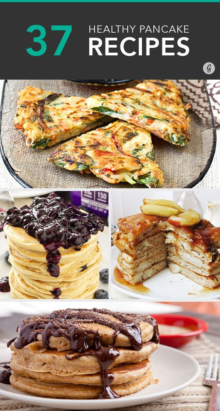 37 Sweet and Savory Pancake Recipes for Any Time of Day #pancakes #recipes #healthy