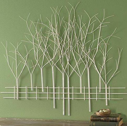 "I pinned this ""Birch Tree Wall Art"" from an online store called The Paragon. Three months after pinning it I went back and the item was gone. It inspired me to make my Stick Tree Silhouette on Crafts by Amanda ~Amanda Formaro"