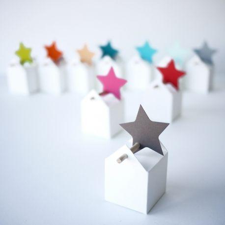 Etiquettes étoiles à la carte - La dragée design : boites à dragées - dragées - faire-part