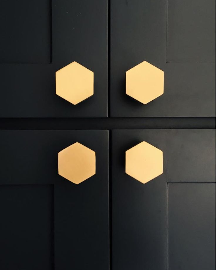 Hex knobs in natural brass by Schoolhouse Electric / via (@sarahshermansamuel) • Instagram photos and videos