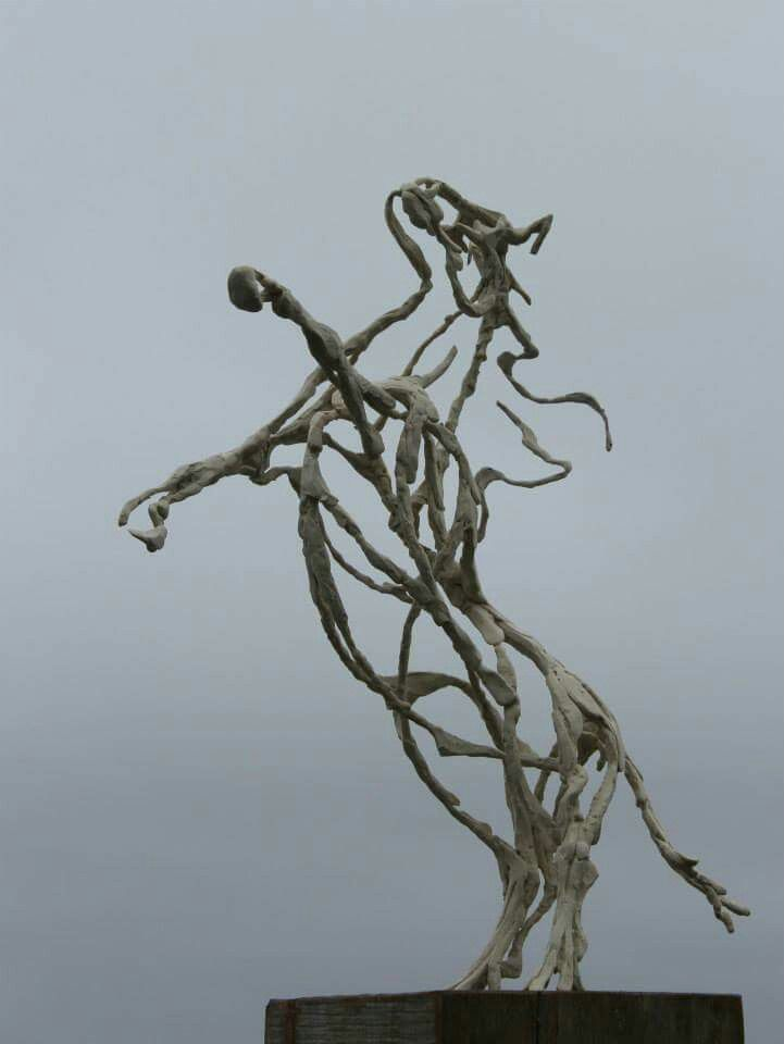 Prairie Horse. 1,7m Bronze. $ 17 400,00.  # horse #abstract #Malcolm Solomon sculpture #bronze #sculpture #Plettenberg bay #South Africa