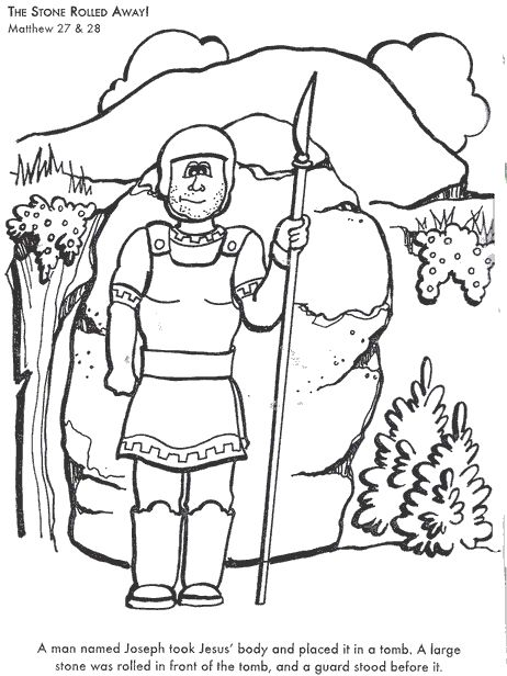The Stone Rolled Away! Bible coloring page for Kids to