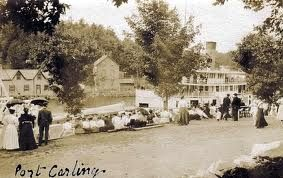 My home town: Port Carling, early in the1900's the magnificent Sagamo locks through