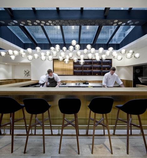Pollen Street Social / NeriBar Design, S'Mores Bar, Street Social, London Restaurants, Bar Stools, Open Kitchens, Bar Lights, Pollen Street, Offices Interiors