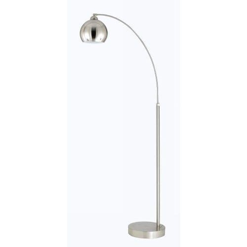cal lighting bo20301l single light 100 watt arc floor lamp with metal shade dark bronze