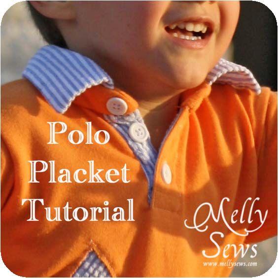 Polo Shirt Placket Tutorial - Melly Sews