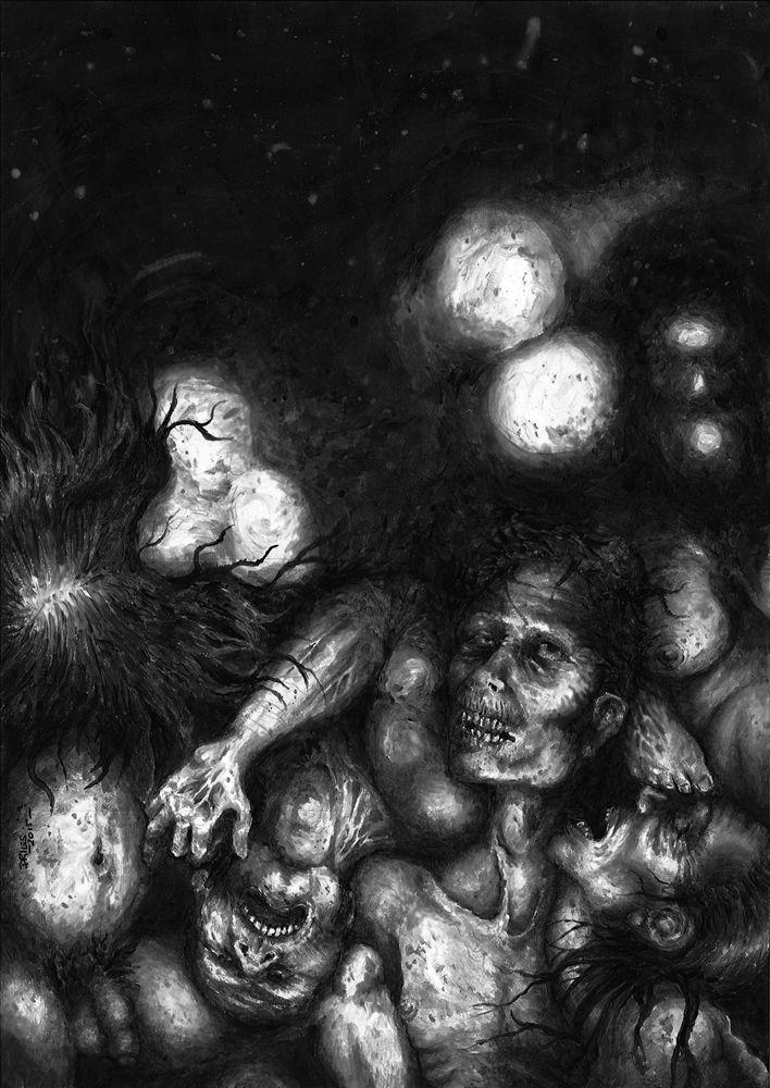 """Aaron Dries' artwork for Jim Goforth's """"Lago De Los Perdidos."""""""