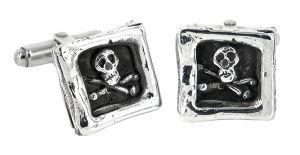 Square Skull cufflinks in sterling silver - $605