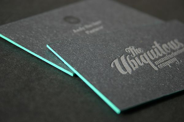 Edge Painted Letterpress Business Cards by blush°° , via Behance