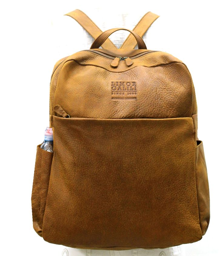 Distressed brown Leather backpack Mens Leather Backpack Womens ...