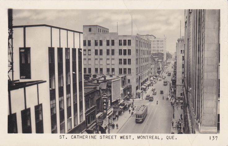 RP: St Catherine Street , MONTREAL , Quebec , Canada , PU-1950