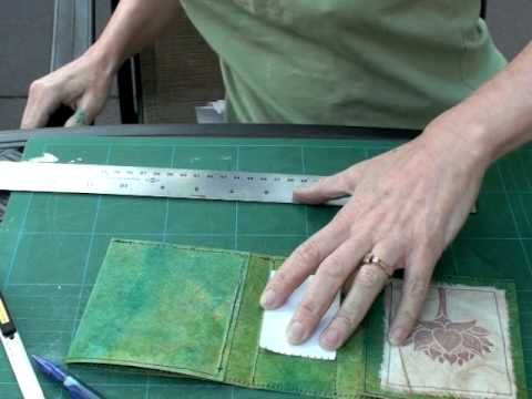 Encuadernado de libros, tutoría, parte 2   -   Bookbinding tutorial part 2