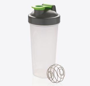 Branded Protein Shaker With Stainless Steel Blending Ball. 800ml