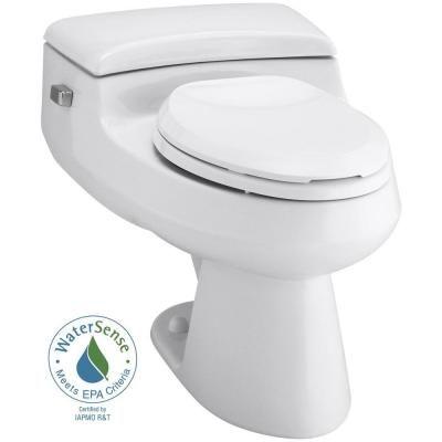KOHLER San Raphael Comfort Height 1-piece 1 GPF Single Flush Elongated Toilet in White-K-3597-0 - The Home Depot