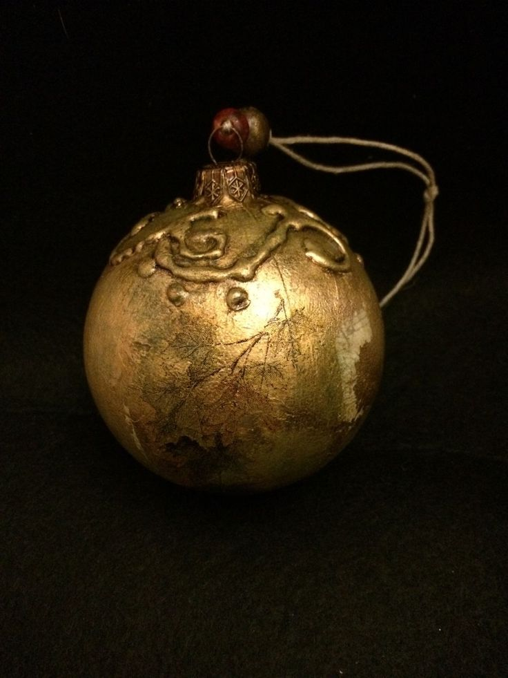"""Купить Винтажные ёлочные шары """"Олений лагерь"""" - золотой, новогодний подарок, новогодний сувенир"""