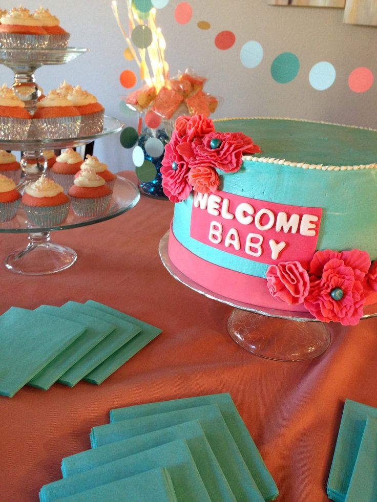 1000 Images About Turquoise And Coral Baby Showers On