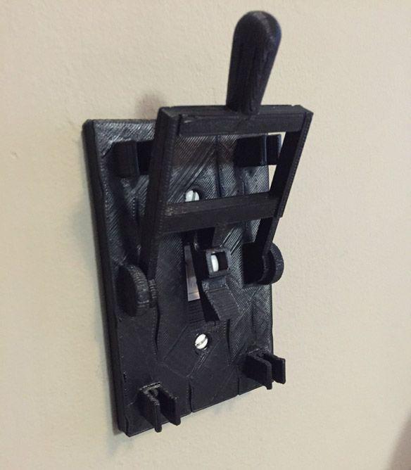 Frankenstein Light Switch Plate