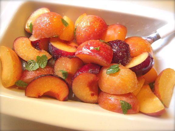 Preparazione con foto della frutta cotta al forno con foto passo passo, la ricetta di con ricetta di Jamie Oliver...