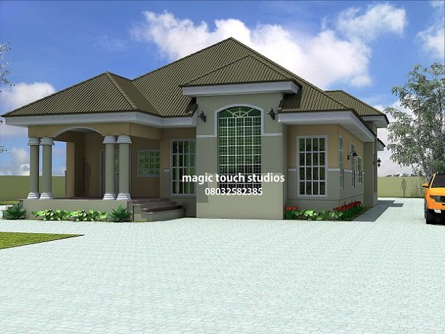 All Rooms Ensuite Cross Ventilated Rooms Large Kitchen Ante Room Lounge Visitors Room E Beautiful House Plans Modern House Plans Modern Bungalow House