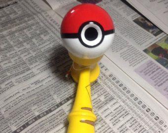 Pikachu Pokeball Kendama