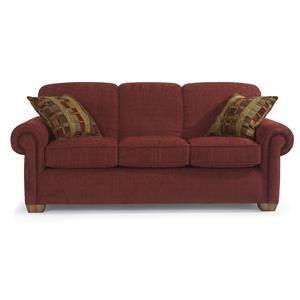 Main Street Rolled Arm Sofa Sleeper By Flexsteel