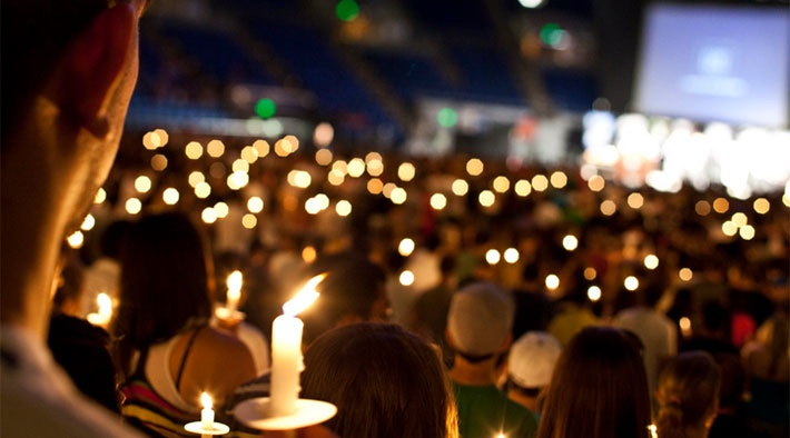 beautiful..candle lighting ceremony