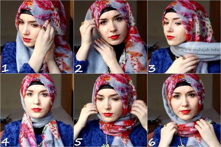 Elegant Floral Hijab Tutorial By NabiilaBee | tutorial
