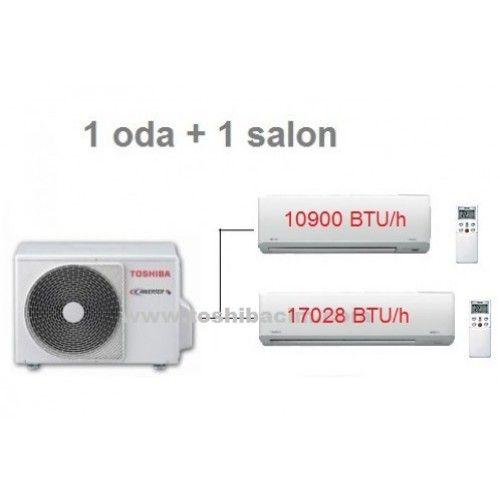 1 Oda + 1 Salon Toshiba Multi İnverter A++ Duvar Tipi Klima Paketi