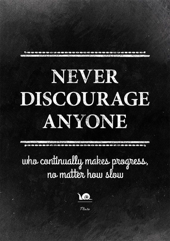Quote Print Wall Decor Never Discourage Anyone Plato Library