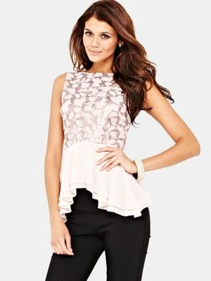 Lipsy Embellished Peplum Bow Back Top, http://www.littlewoodsireland.ie/lipsy-embellished-peplum-bow-back-top/1218598909.prd