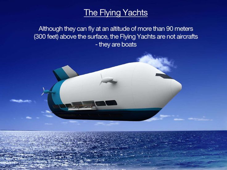 Flying Yachts from Canadian inventor Hokan Colting