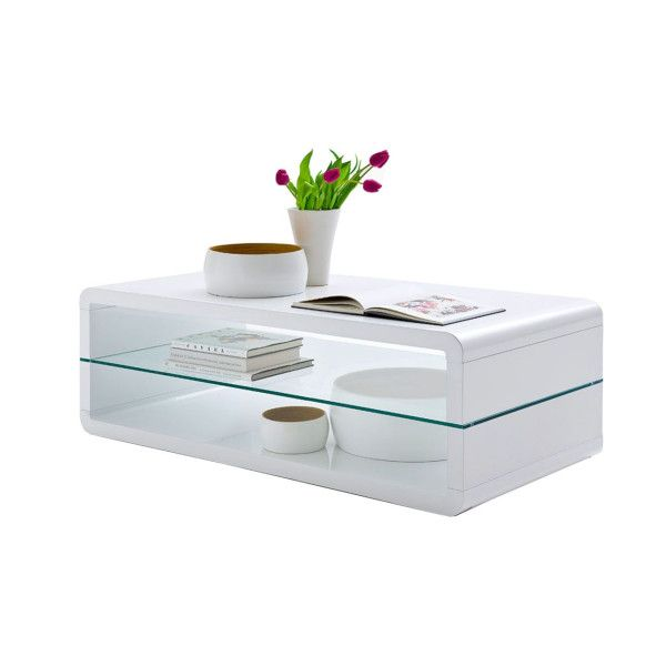 Salontafel Fenna van het merk Henry Timi is afgebeeld in de kleur wit.