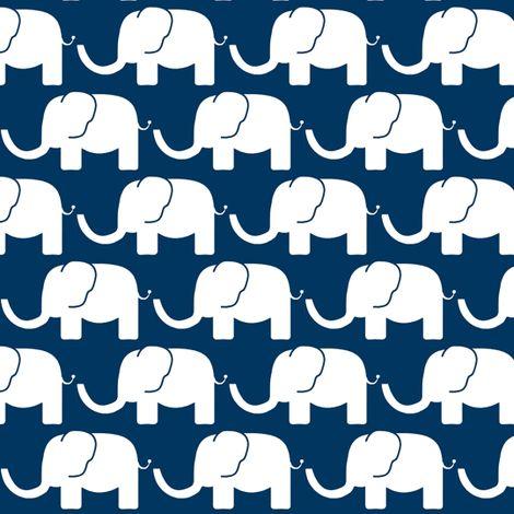 blue elephant fabric by arrpdesign