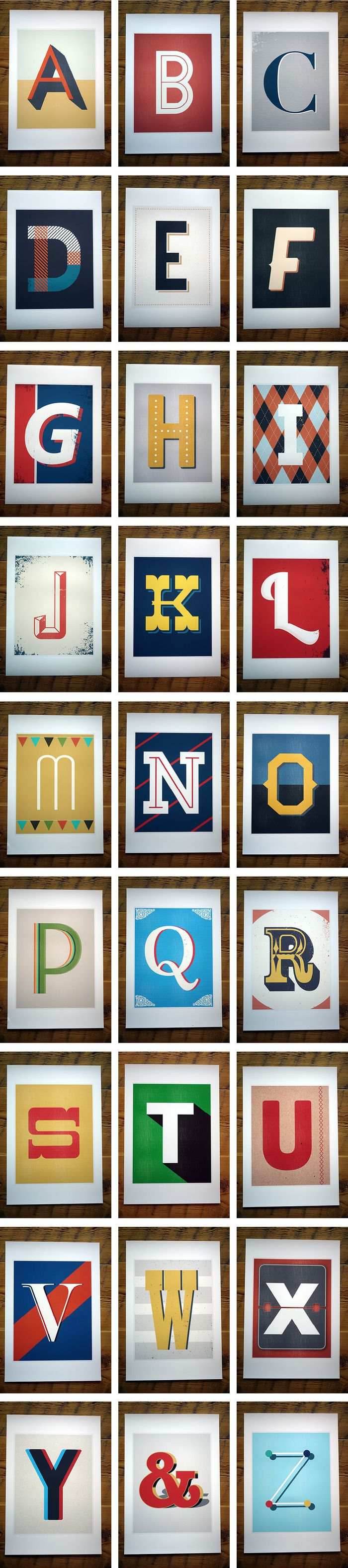 Vintage Type Prints by Red Headed Mess — Kickstarter