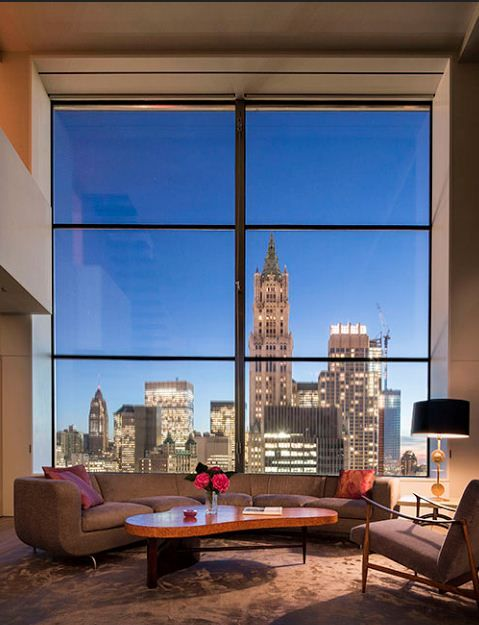 ALWAYS THE WINDOWS YES...... LIKE THE EYES... THEY ARE PORTALS TO OTHER WORLDS... LIFE AND LIGHT  GOES IN AND OUT....NYC Penthouse | ~LadyLuxury~